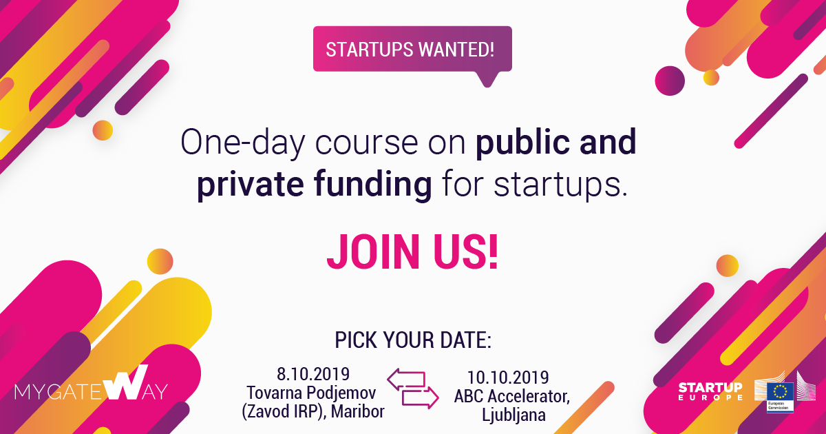 One-day Startup Funding Training Course in Slovenia
