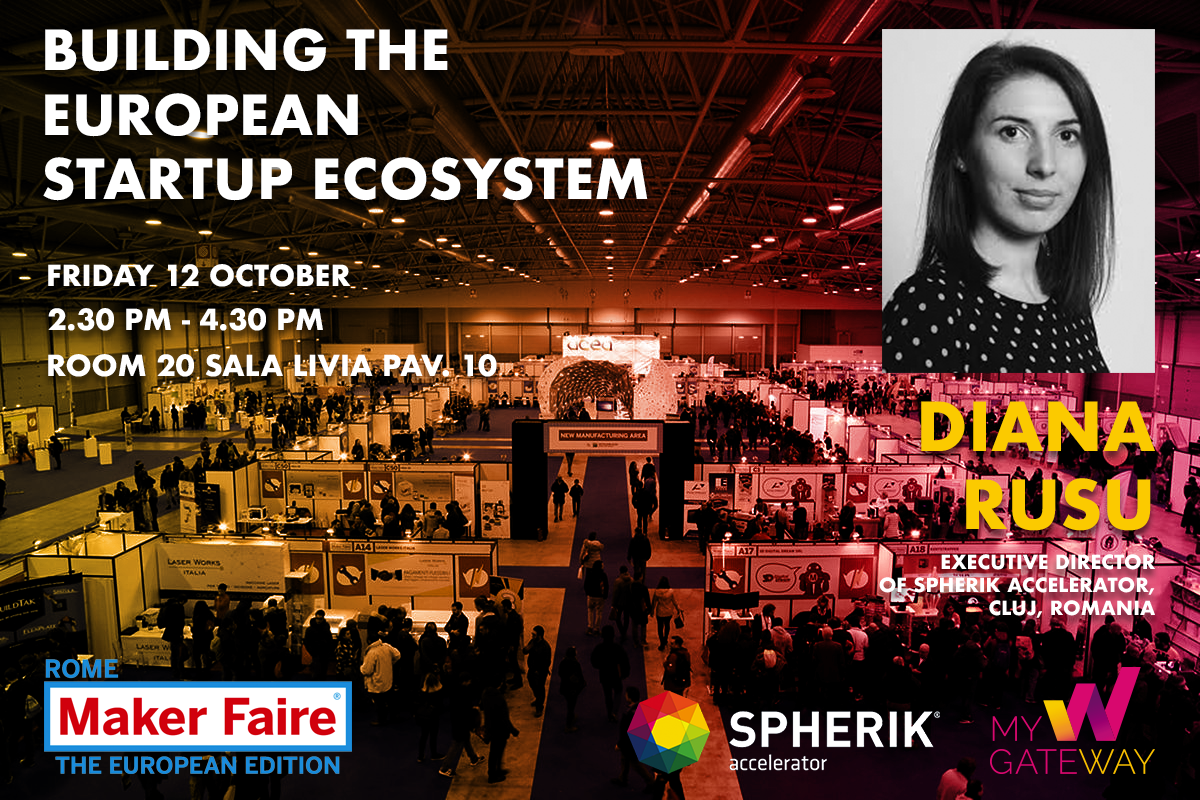 Diana Rusu will be a speaker at the Maker Faire Rome
