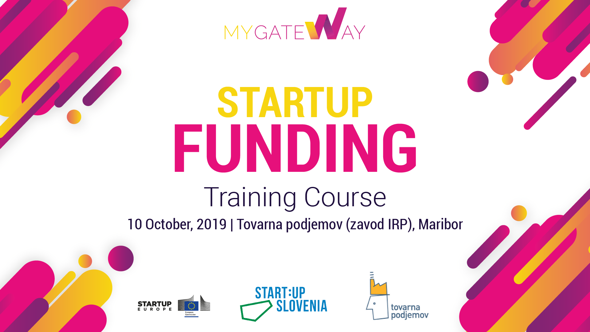 Startup Funding Training Course in Maribor, Slovenia